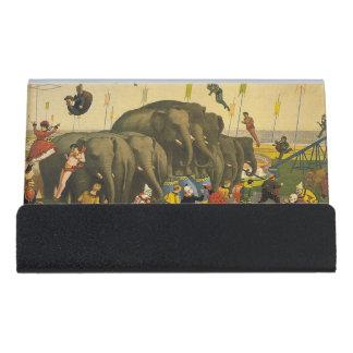 TOP Elephant Acrobats Desk Business Card Holder