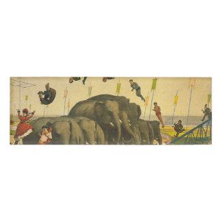 TOP Elephant Acrobats Name Tag