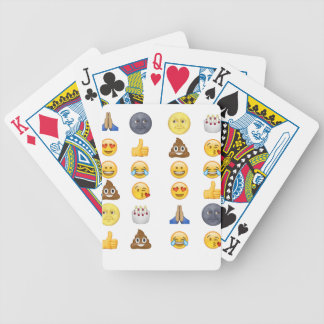 Top emoji collection bicycle playing cards