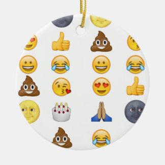 Top emoji collection ceramic ornament