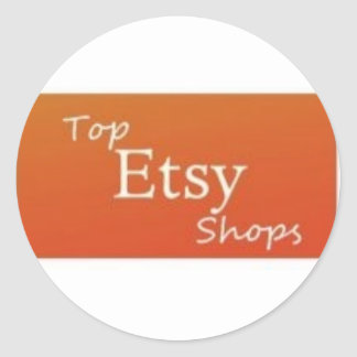 Top Etsy Shops Classic Round Sticker