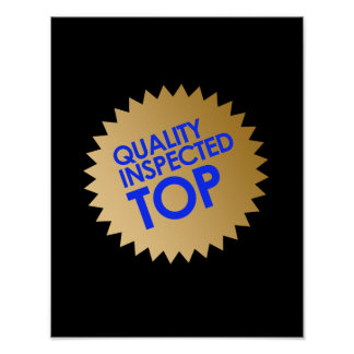 Top examinado calidad poster