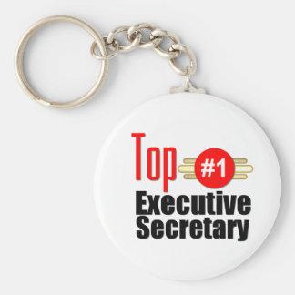 Top Executive Secretary Basic Round Button Keychain