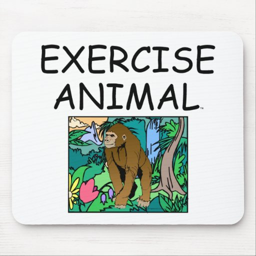 TOP Exercise Animal Mousepads