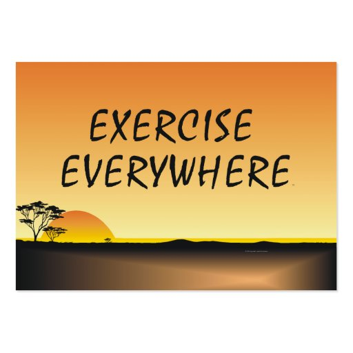 TOP Exercise Everywhere Business Card Templates