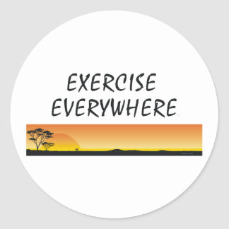 TOP Exercise Everywhere Classic Round Sticker
