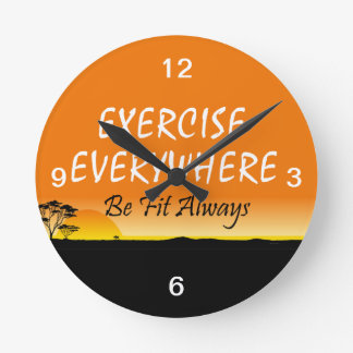 TOP Exercise Everywhere Round Clocks