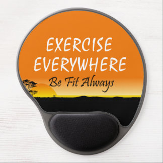 TOP Exercise Everywhere Gel Mouse Pad