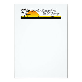 TOP Exercise Everywhere 5x7 Paper Invitation Card
