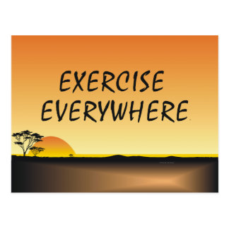 TOP Exercise Everywhere Postcard