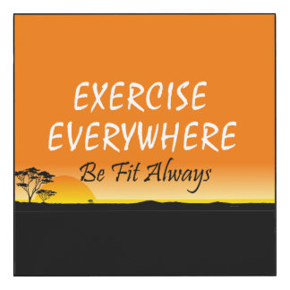 TOP Exercise Everywhere Wood Wall Art
