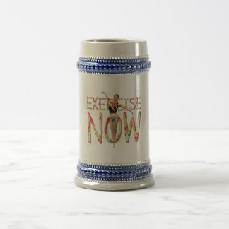 TOP Exercise Now Beer Stein