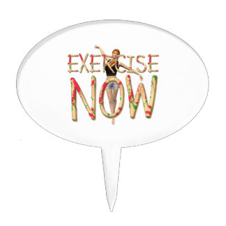 TOP Exercise Now Cake Topper