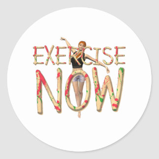 TOP Exercise Now Classic Round Sticker