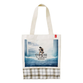 TOP Exercise Til Body Behaves Zazzle HEART Tote Bag