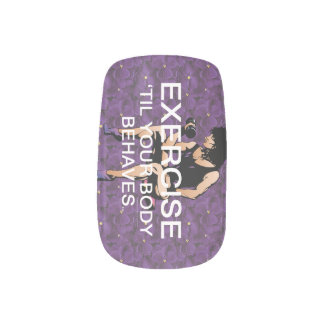 TOP Exercise Til Your Body Behaves Minx Nail Wraps