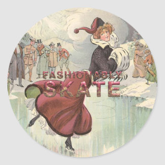 TOP Fashionably Skate Classic Round Sticker
