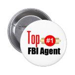 Top FBI Agent 2 Inch Round Button