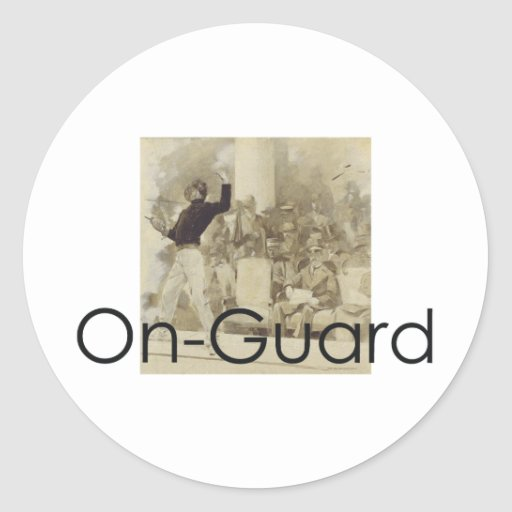 TOP Fencing Classic Round Sticker