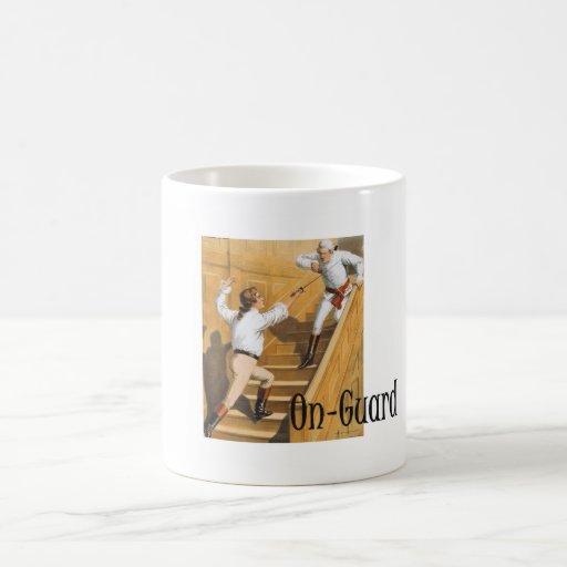 TOP Fencing On-Guard Classic White Coffee Mug