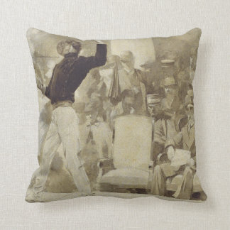 TOP Fencing Throw Pillow