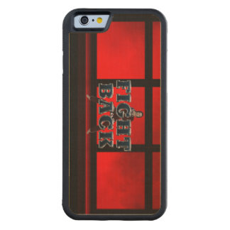 TOP Fight Back Carved Maple iPhone 6 Bumper Case