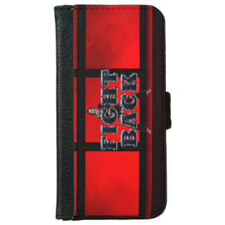 TOP Fight Back Wallet Phone Case For iPhone 6/6s