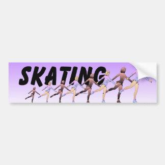 TOP Figure Skating Girl Car Bumper Sticker