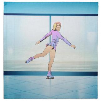 TOP Figure Skating Girl Napkin