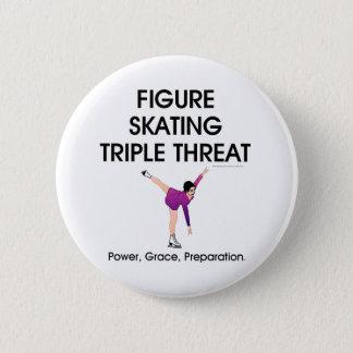 TOP Figure Skating Triple Threat Pinback Button