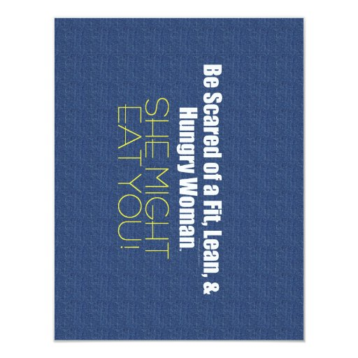 TOP Fit, Lean, & Hungry 4.25x5.5 Paper Invitation Card