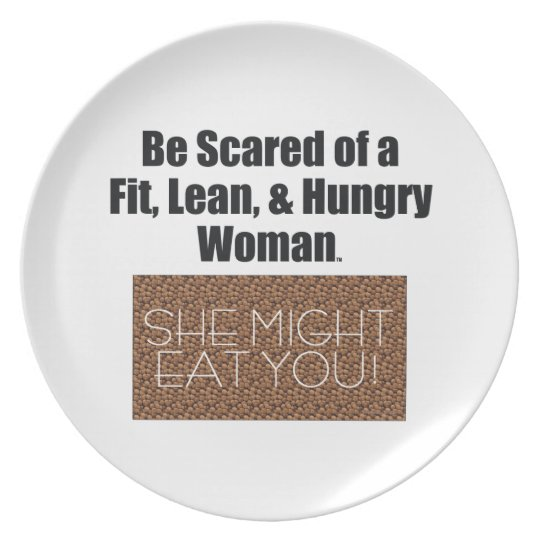 TOP Fit, Lean, & Hungry Melamine Plate