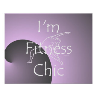 TOP Fitness Chic Poster