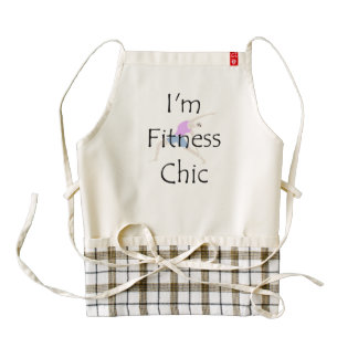 TOP Fitness Chic Zazzle HEART Apron