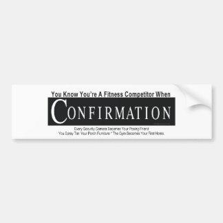 TOP Fitness Competitor Bumper Sticker