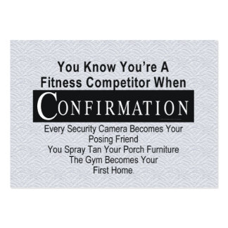 TOP Fitness Competitor Large Business Cards (Pack Of 100)