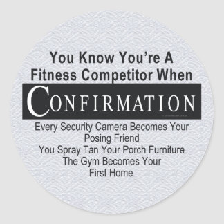 TOP Fitness Competitor Classic Round Sticker