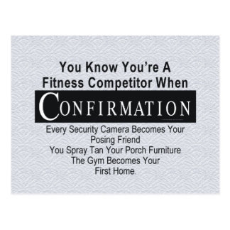 TOP Fitness Competitor Postcard