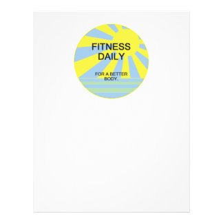 """TOP Fitness Daily 8.5"""" X 11"""" Flyer"""