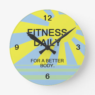 TOP Fitness Daily Round Wall Clock
