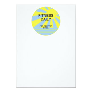 TOP Fitness Daily 5x7 Paper Invitation Card