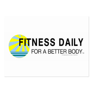 TOP Fitness Daily Large Business Cards (Pack Of 100)