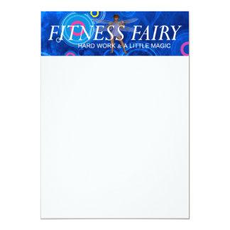 "TOP Fitness Fairy 5"" X 7"" Invitation Card"