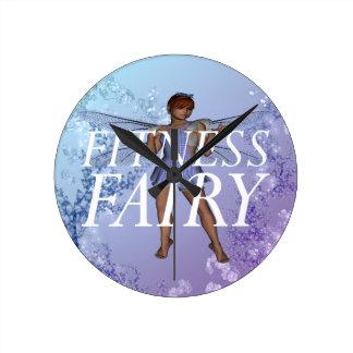 TOP Fitness Fairy Round Clock