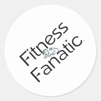 TOP Fitness Fanatic Classic Round Sticker