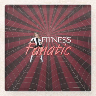 TOP Fitness Fanatic Glass Coaster