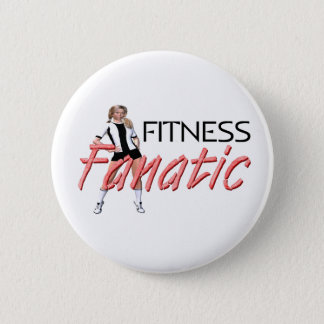 TOP Fitness Fanatic Pinback Button