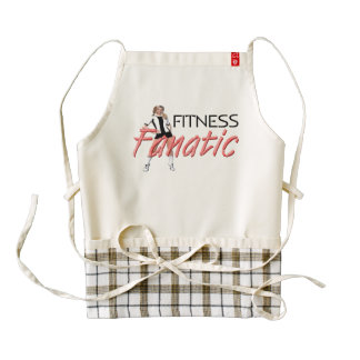TOP Fitness Fanatic Zazzle HEART Apron