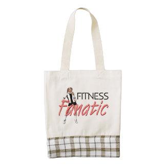 TOP Fitness Fanatic Zazzle HEART Tote Bag
