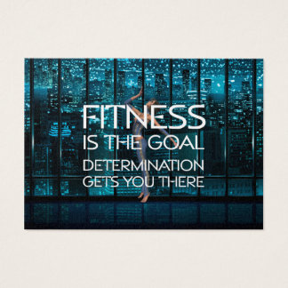 TOP Fitness Goal Business Card